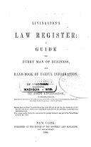 Livingston's Law Register for ...