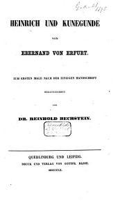 Heinrich und Kunegunde: zum ersten Male...