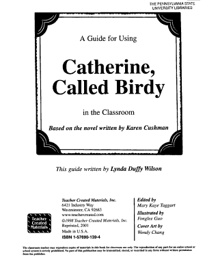 A Guide for Using Catherine  Called Birdy in the Classroom PDF