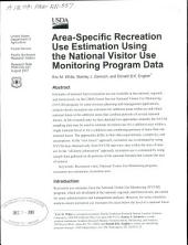 Area-specific recreation use estimation using the National Visitor Use Monitoring Program data
