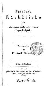 Fessler's sämmtliche Schriften über Freymaurerey: Band 3