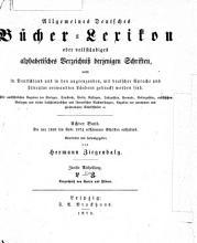 Allgemeines B  cher Lexikon0 PDF