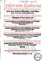 Histori vom Leyden der heiligen Jungfrawen   Martyrin Caeciliae und ihrer hl  Mitgesellen   Martyrer Valeriani  Tiburtii   Maximi PDF