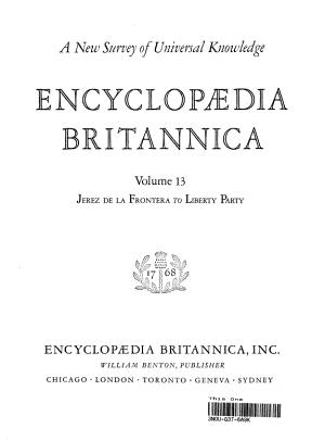 Encyclopedia Britannica  Volume 13 PDF