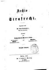 Archiv für preußisches Strafrecht: Band 40