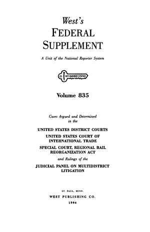 West s federal supplement   First Series   PDF