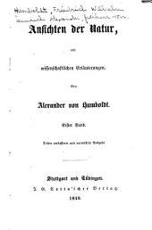 Ansichten der Natur: mit wissenschaftlichen erläuterungen, Band 2