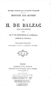 Histoire des œuvres de H. de Balzac: suivie d'un appendice