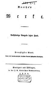 Goethe's Werke: Band 30