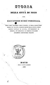 Storia della città di Noto