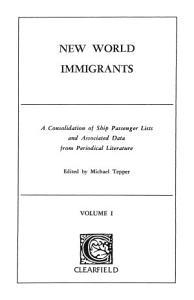 New World Immigrants PDF