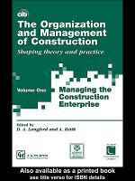 The Organization and Management of Construction PDF