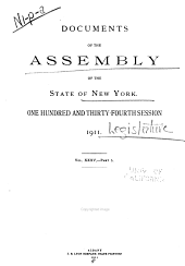 Documents of the Assembly of the State of New York: Volume 35
