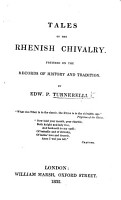 Tales of the Rhenish Chivalry  Founded on the records of history and tradition PDF