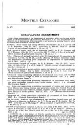 Monthly catalogue, United States public documents: Issues 271-282