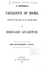 A General Catalogue of Books   The Supplement  1875 77 PDF