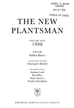 The New Plantsman PDF