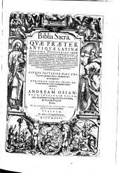 Biblia sacra etc. Posterior ed ... per Andream Osiandrum