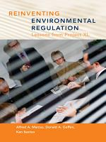 Reinventing Environmental Regulation PDF