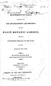 Description of Elgin Garden, the Property of David Hosack, M.D.