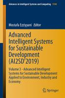 Advanced Intelligent Systems for Sustainable Development  AI2SD   2019  PDF