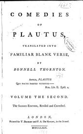 Comedies of Plautus: Volume 2