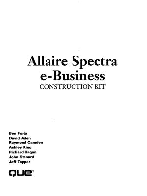 Allaire Spectra E business Construction Kit