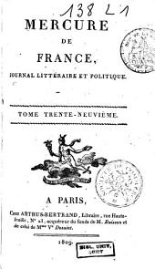 Mercure de France: Volume 39