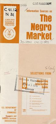 Information Sources on the Negro Market
