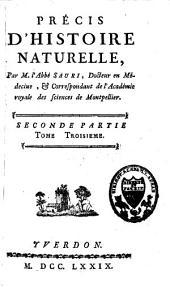 Précis d'histoire naturelle: Volume2,Partie3