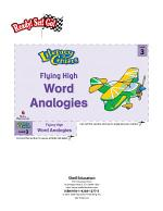 Word Analogies--Flying High Literacy Center