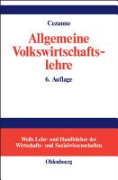 Allgemeine Volkswirtschaftslehre PDF