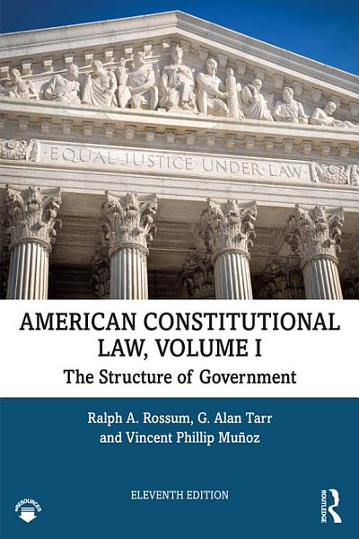 American Constitutional Law  Volume I PDF