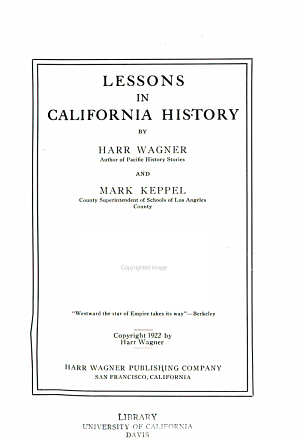 Lessons in California History