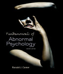 Fundamentals of Abnormal Psychology PDF