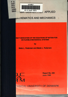 A Direct Derivation of the Equations of Motion for 3D flexible Mechanical Systems PDF
