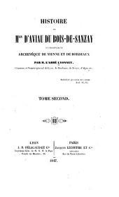 Histoire de Mgr d'Aviau du Bois-de-Sanzay successivement archevêque de Vienne et de Bordeaux