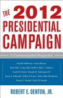 The 2012 Presidential Campaign PDF
