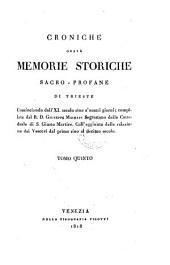 Dall'Anno 1775 Sino Alla Sortita Da Trieste Degli Austriaci Nell'Anno 1809: 5