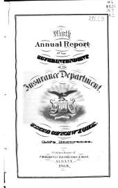 Annual Report of the Superintendent of Insurance of the State of New York. ...: Volume 9
