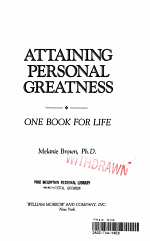 Attaining Personal Greatness