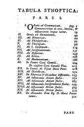 Jacobi Facciolati Orationes XX et alia ad Dicendi Artem pertinentia