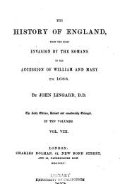 The History of England: From the First Invasion by the Romans to the Accession of William and Mary in 1688, Volume 8