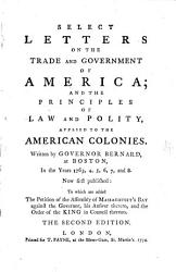 Select Letters on the Trade and Government of America