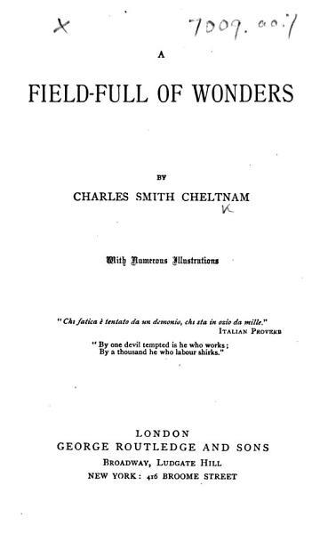 A Field full of Wonders  etc PDF
