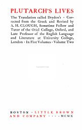 Plutarch's Lives: The Translation Called Dryden's, Volume 2