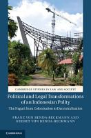 Political and Legal Transformations of an Indonesian Polity PDF