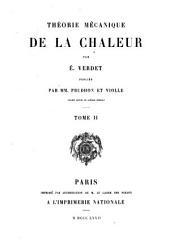 Œuvres de É. Verdet: Théorie mécanique de la chaleur ... pub. par MM. Prudhon et Violle. 1868-72