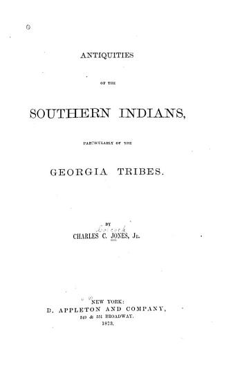 Antiquities of the Southern Indians PDF