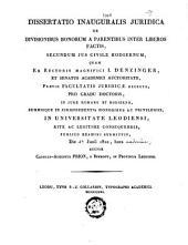 Dissertatio inauguralis juridica de divisionibus bonorum a parentibus inter liberos factis, secundum jus civile hodiernum